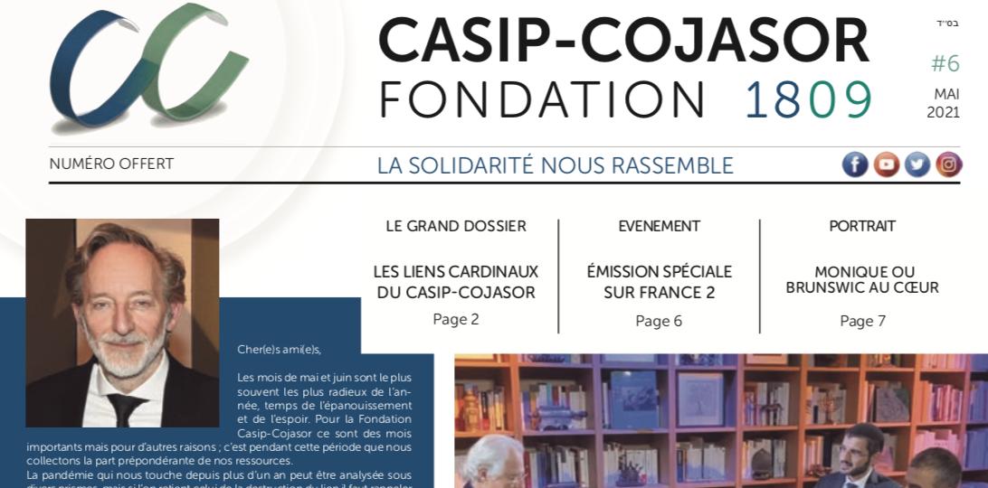 Découvrez le Journal N°6 de la Fondation Casip-Cojasor